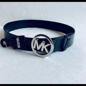 Michael Kors Leather Black Belt/Sz:S/ NWT